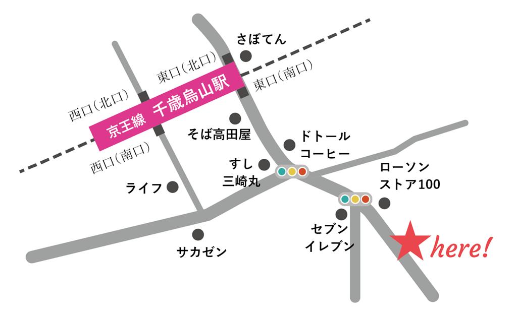 ギャラリーフィルモカラー地図